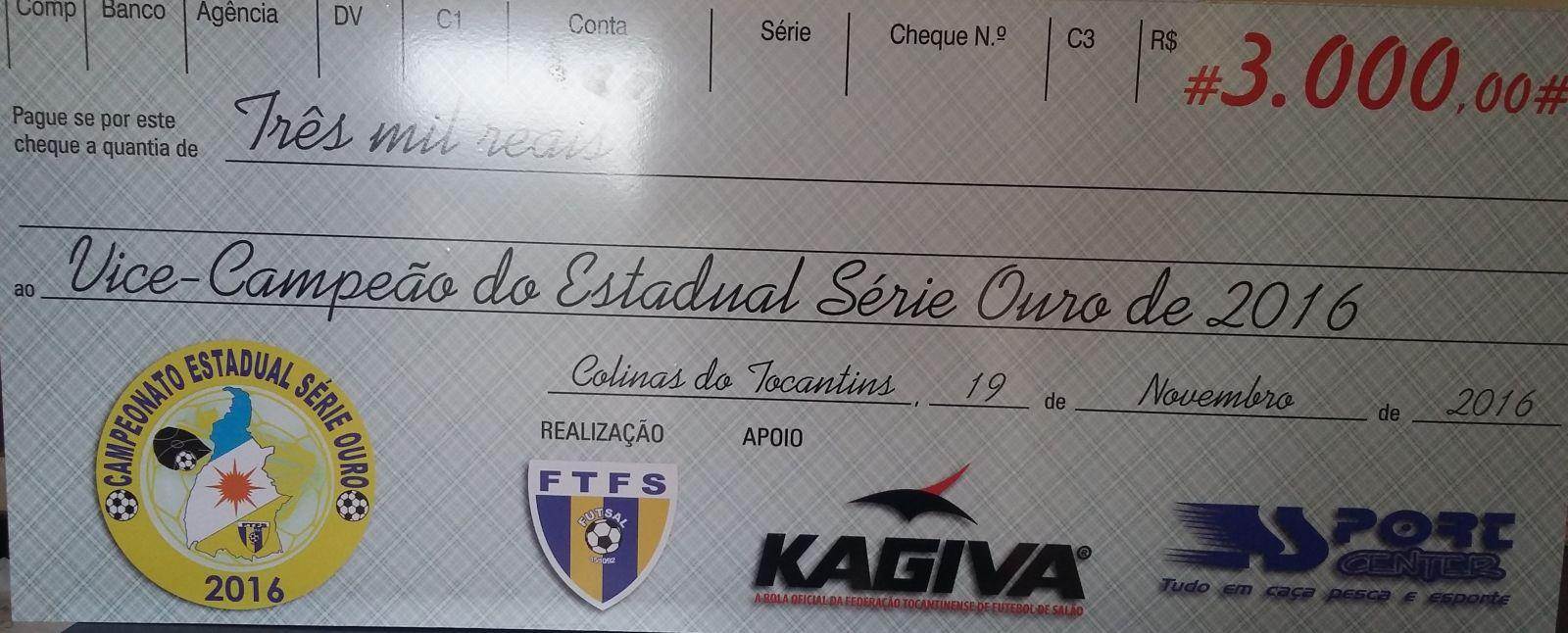 Colinas e Pedro Afonso decidem hoje o título do Estadual Série Ouro CHEQUE 202
